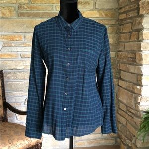 Green and Navy Flannel